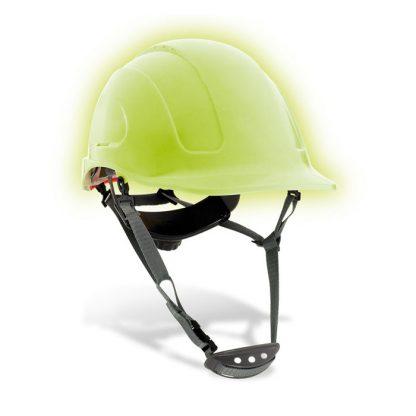 Casco seguridad ABS fotoluminiscente