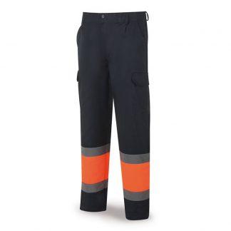 Pantalon AV marino naranja