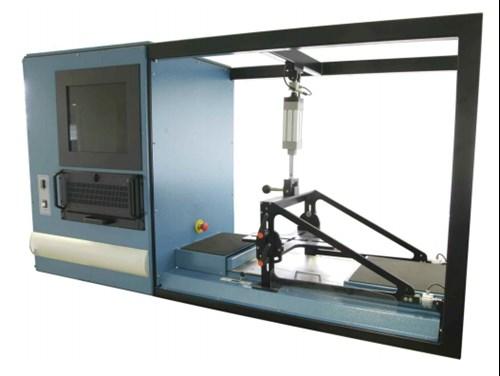Máquina para realizar los test SRC al calzado de seguiridad